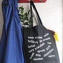 Personalised Favourites Cotton Shopper Bag
