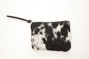 Small Change Cow Hide Purse - purses & wallets