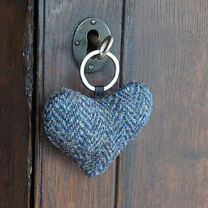 Harris Tweed Heart Key Ring