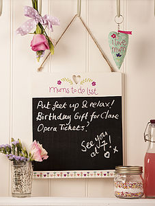 'Mum's To Do List' Chalkboard - gifts under £25