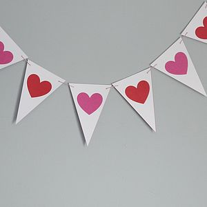 Heart Bunting - outdoor decorations