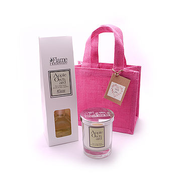 Scented Room Reed Diffuser And Jar Candle
