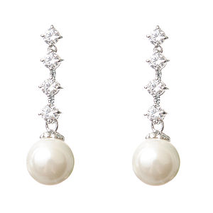 Kate Crystal And Pearl Earrings - earrings