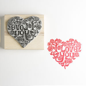 'I Love You' Stamp - love is… my valentine