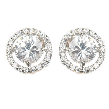 Astor Vintage Style Diamante Stud Earrings