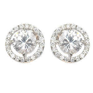 Astor Vintage Style Diamante Stud Earrings - wedding jewellery