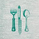 Printed Cutlery Table Linen