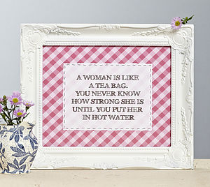 'A Woman Is Like…' Checked Print - gifts for grandmothers