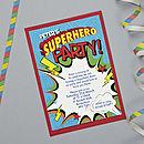 Personalised Superhero Party Invitations