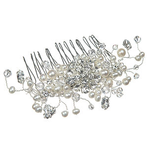 Martha Pearl And Crystal Wedding Hair Comb - wedding fashion