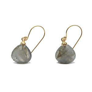 Labradorite Silver Drop Earrings - earrings