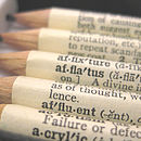 Set Of Five Personalised Dictionary Pencils