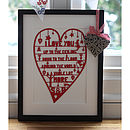 Romantic Heart Papercut Or Print