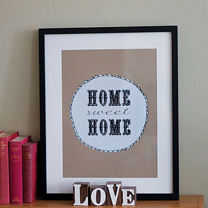 'Home Sweet Home' Limited Edition Screenprint