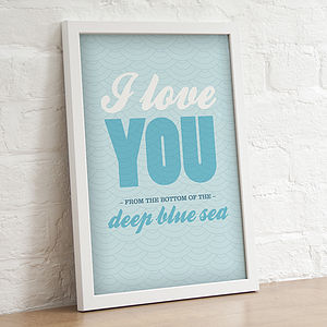 'I Love You…' Graphic Print - pictures, prints & paintings