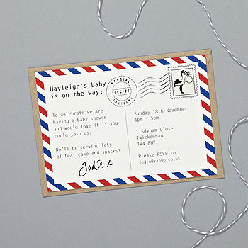 'Special Delivery' Baby Shower Invitations