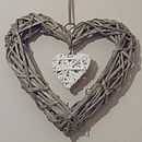 Wicker Heart Decoration