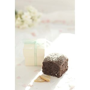 Luxury Chocolate Brownie Wedding Favours - wedding favours