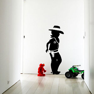 Cowboy Wall Sticker Decal - decorative accessories