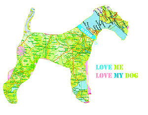 Personalised Fox Terrier Map Dog Print