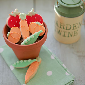 Gardener's Fruit And Veg Biscuit Gift Box - biscuits and cookies