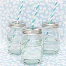 Set Of Six Glass Jars