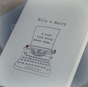 Personalised 'A True Love Story' Card