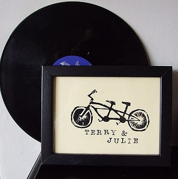 Personalised Tandem Bike Framed Print
