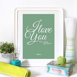 Personalised Love Quote, Poster/Canvas Print - pictures, prints & paintings