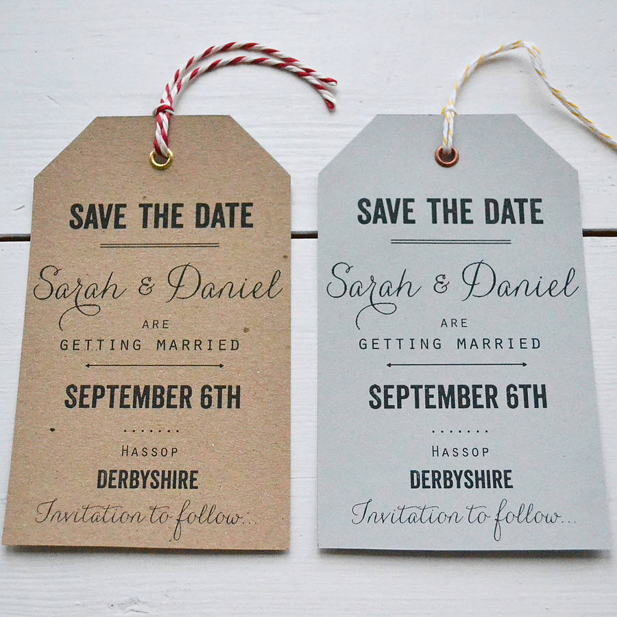 tag wedding save the date by lucy says i do | notonthehighstreet.com