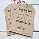 Personalised Save The Date Luggage Tag