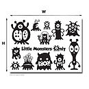 Little Monsters Only Wall Stickers