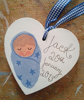 New Baby Boy Gift Tag Decoration