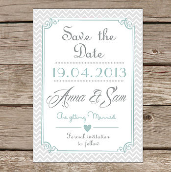 Personalised 'Save The Date' Card