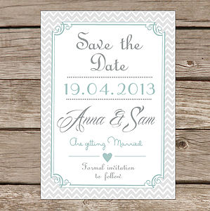 Personalised 'Save The Date' Card - save the date cards