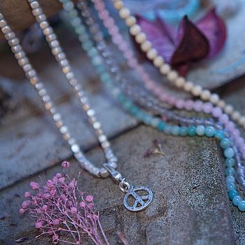 Short Peace Charm Necklace