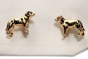 Labrador Cufflinks In 24ct Gold On Silver