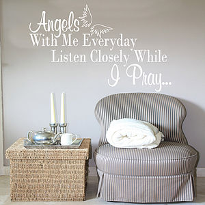 Angels With Me Everyday Wall Sticker