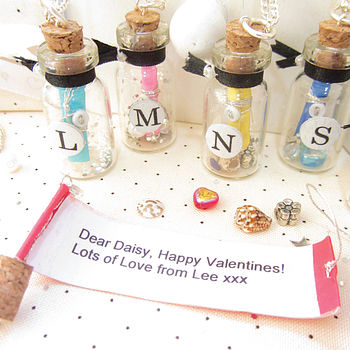 Christmas Message Bottle Personalised Pendant