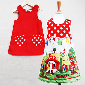Girl's Gnome Dress - clothing