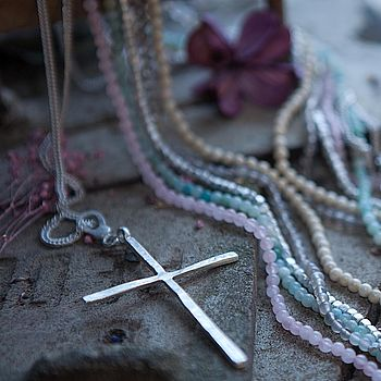 Long Cross Pendant Necklace