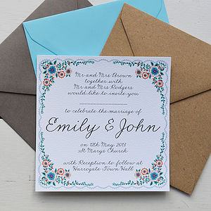 Personalised Summer Wedding Invitation Set - invitations