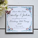 English Summer Garden Wedding Save the Date Lucy says I do
