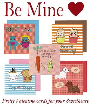 Be Mine Pack Of Five Cards