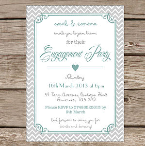 Personalised 'Engagement Party' Invitations - invitations