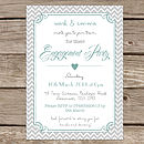 Personalised 'Engagement Party' Invitations