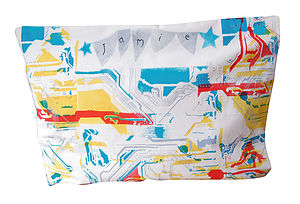 Personalised Circuit Board Pillow Case - bed linen & cot bedding