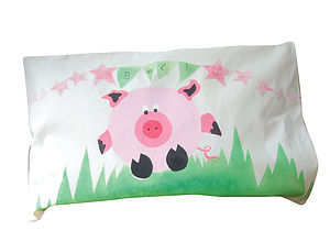 Personalised Pig Pillow Case - bed linen & cot bedding