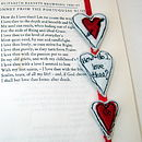 Embroidered 'How Do I Love Thee?' Bookmark