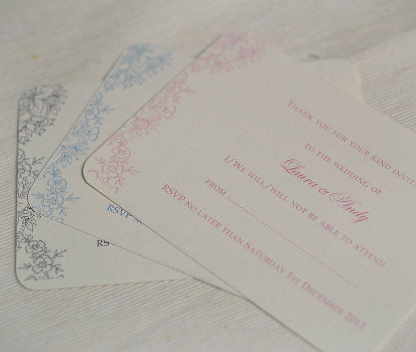Reply cards vintage laceu0027 wedding invitations by